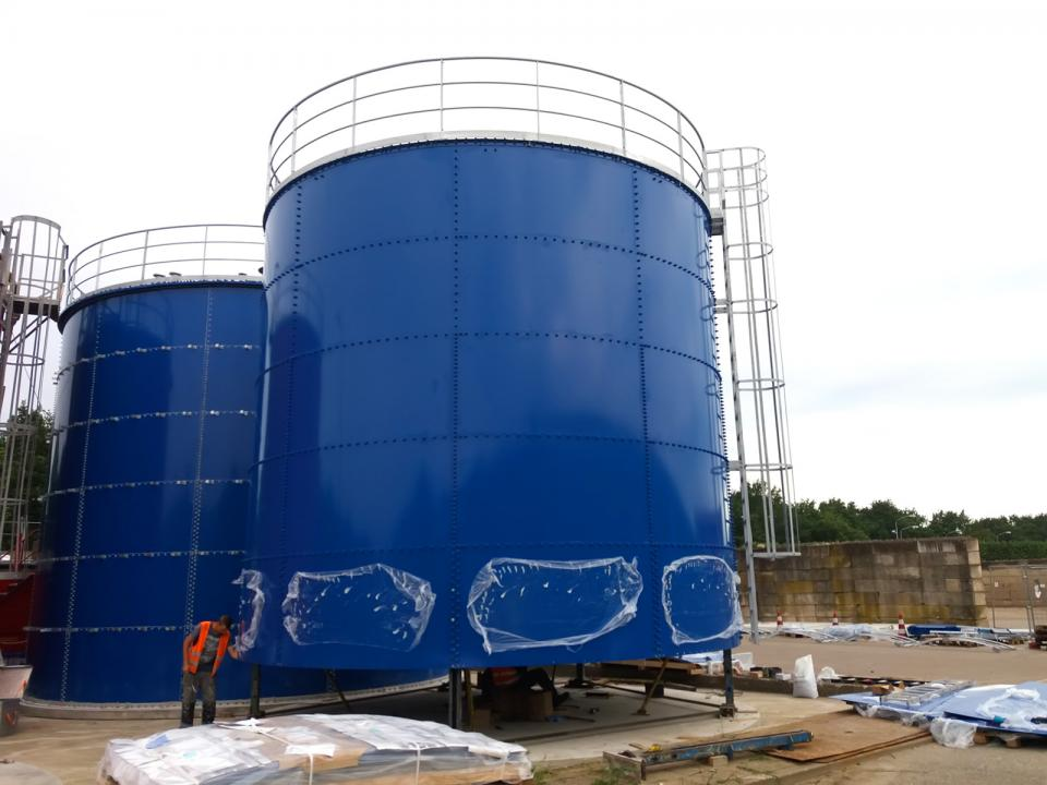Set of tanks for WWTP in the Netherlands