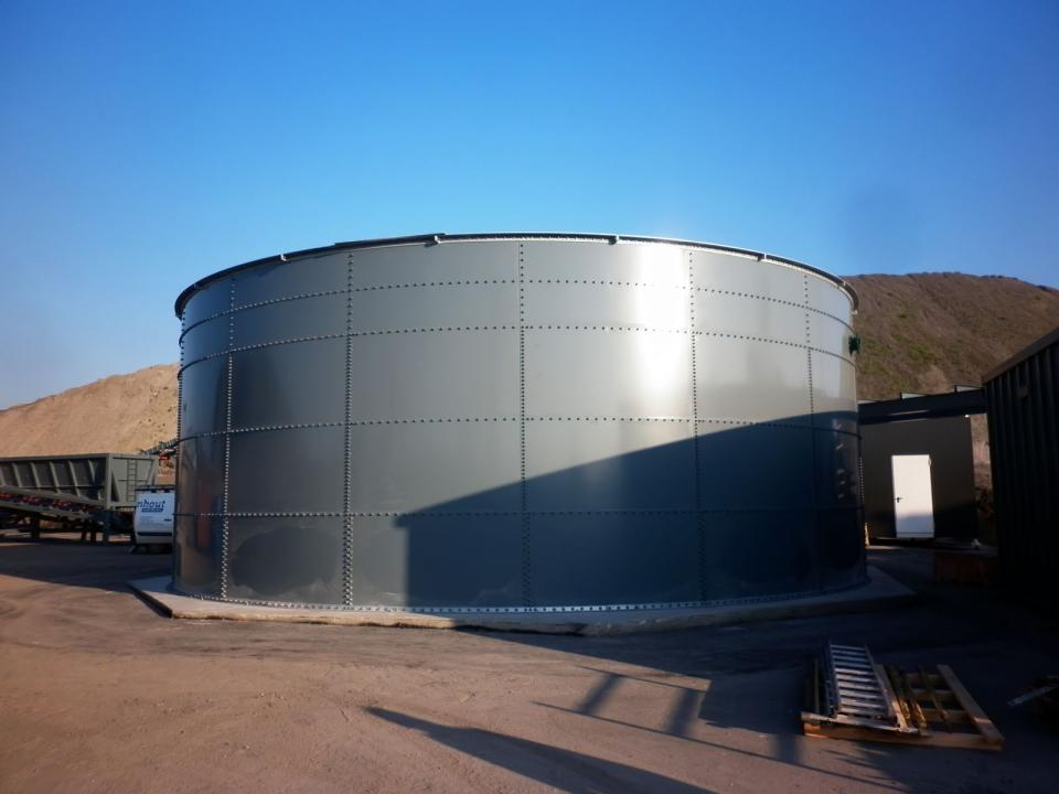 Sludge tank in the Netherlands